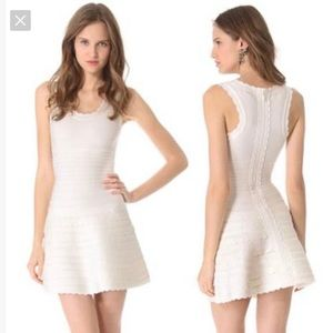 Herve Leger white alabaster dress size XS